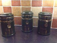 3 Harrods of Knightsbridge storage jars