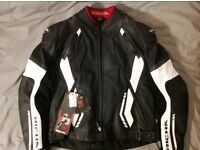 New/ Richa 2 parts leather motorbike jacket with D3O removable protection