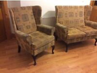 Cottage style 2 seater sofa and matching chair