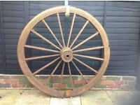Large Wagon Wheel lovingly restored to an excellent condition.
