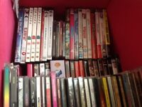 Job Lot, Box of DVD's and CD's - mixed bundle
