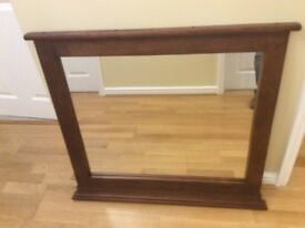 Wooden mirror. Very good condition. 88 x 80cm (W x H)