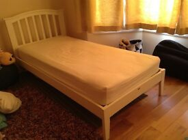Joseph Lana White Bed Frame