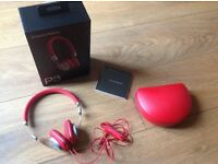Bowers and Wilkins P3 Red Headphones-New/Unsealed