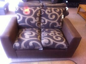 BRAND NEW!!! New line, castle 2 seater brown leather settee sofa