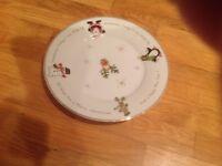 Christmas plates and bowls