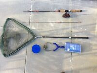 Boy's or girl's starter fishing tackle