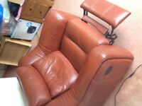 Lazy boy electric armchair leather