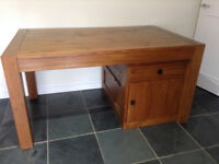 Handmade Wooden Desk - With filing and storage cupboard ++Delivery may be poss++