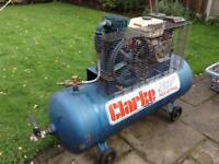 Clarke 200ltr Honda Petrol Air Compressor GX160 Enigine Industrial