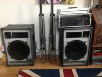 British Built Village Audio PA Speakers and Powered Desk
