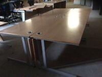 Four Beech Rectangle Desks