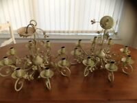 Two Laura Ashley Chandelier light fittings for sale.