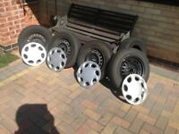 Wheels for Toyota Starlet tyres with Rims +4 original wheel trims