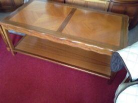 Danish teak solid wood coffee table. Length108cm Width60cms
