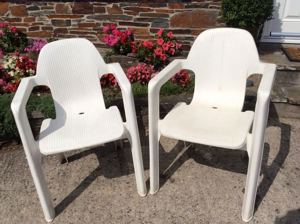 2 Hartman White Plastic Garden Chairs In Plymouth Devon Gumtree