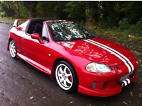 HONDA CIVIC 1.6 CRX VTI T-BAR DEL SOL, FLAME RED.