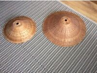 Two wicker 'coolie' light shades from Habitat. Can be sold separately.