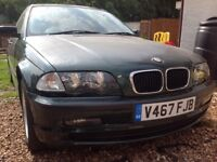 BMW E46 3 series bonnet with kidney grills and latch. Breaking other parts available