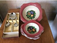 Solian ware fruit set and server