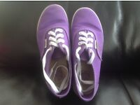 Vans purple and pink girls trainers uk1 and uk 2