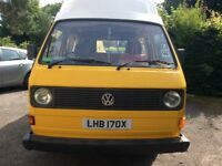 Wolkswagen campervan T25 sleeps 4 people.