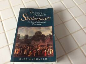 The Bedford Companion to Shakespeare book
