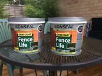 Ronseal Fencelife..One coat...2x 5 Ltrs.new...Forest Green
