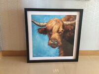 Two Cow Large framed stretch canvas pictures