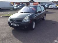 Renault Clio 2004, 1.2, Dynamique, 3 Door, 69,000 miles, 3 months RAC warranty, full years MOT.