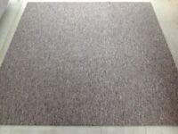 Carpet tiles - 4m2; 16 x 50cm2 brown / beige fleck tiles in NW10