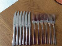WMF steak knives and forks