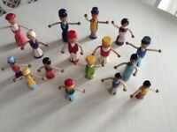 Vintage folk art wooden figures