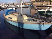 FOLKSONG 26' GRP SAILING CRUISER, NEW DIESEL ENGINE, GREAT VALUE STARTER BOAT £5750