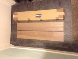 "Vinyl flooring ( luxury vinyl flooring ""planks"") each plank 3 feet x 6 inches qty 28 sq yds"