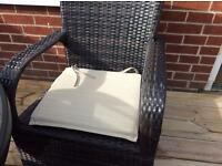 2 Pads with ties for garden chair