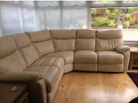 100% leather recliner corner sofa. Only 2 years old and in excellent condition. Must pick up