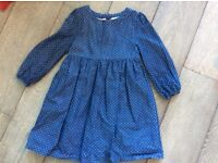 White Company Gorgeous Blue Star Printed Girls Dress A Bargain