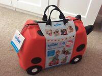 Ladybird trunki ride on suitcase brand new