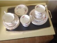 Royal Albert Jubilee Rose generously sized cups, perfect condition