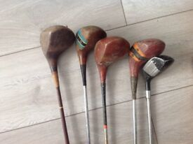 Vintage Golf Woods - ideal for decoration