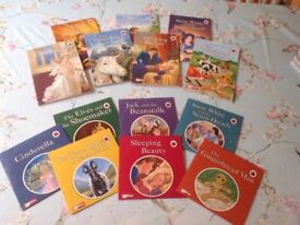7 Ladybird books with CD's