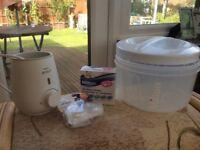 Steriliser - Milton bottle sterilising unit and Avent bottle warmer