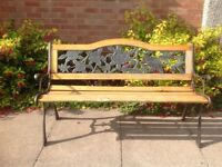 Wrought Iron and wood bench, needs some TLC