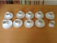 Thomas Germany China coffee espresso cups with saucers