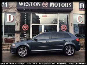 2009 Audi A3 2.0 TURBO *LEATHER *DUAL SUNROOF *AUTO