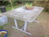 Garden table, hardwood.