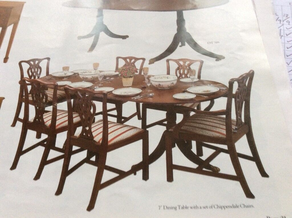 Yew Dining Table And 6 Chairs J Sidney Smith