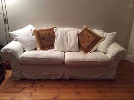Cream dfs sofa