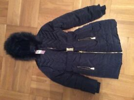 New Girls Navy Coat from TU, age 9-10 yrs.